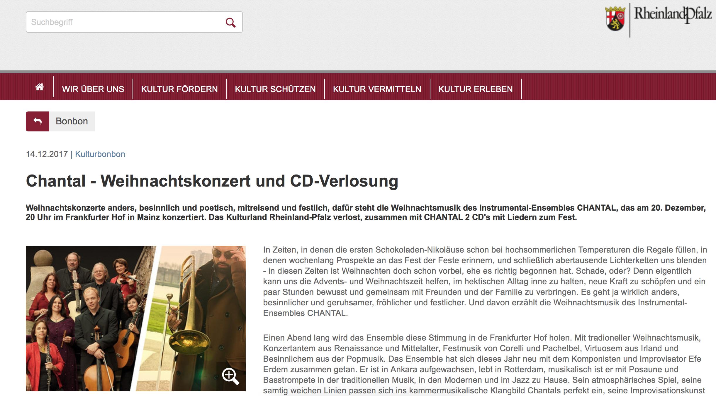 Kulturseite Rheinland-Pfalz
